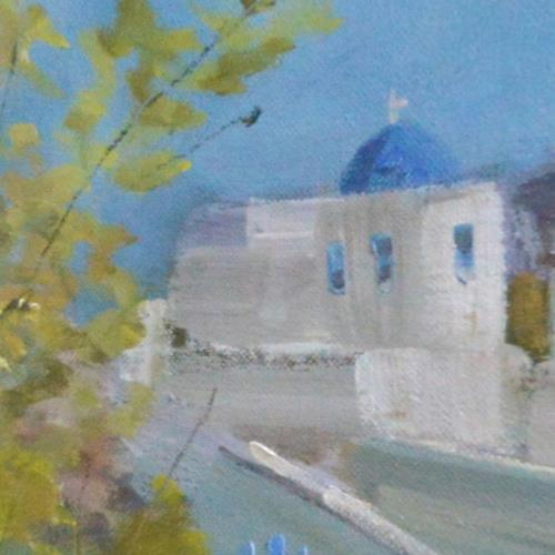 冯振华首创3D全景油画《地中海风情》