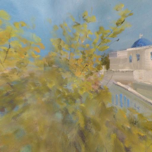 世界首创3D全景油画冯振华作品《地中海风情》