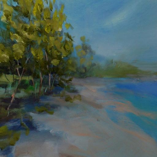 冯振华首创3D全景油画《绿岛》